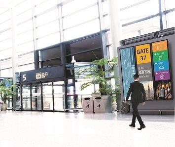 Az LG a Passenger Terminal Expo 2018 bemutatón mutatta be új kereskedelmi kijelzőit